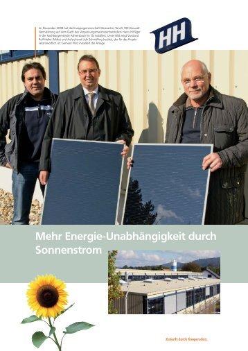 Energiegemeinschaft Weissacher Tal eG, Weissach im Tal - BWGV