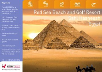 Red Sea Beach and Golf Resort Sahl Hasheesh Egypt - Viceroy Invest