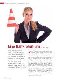 Eine Bank baut um. - BWGV