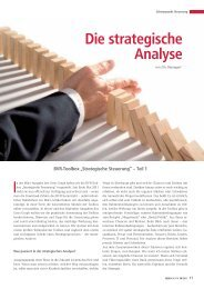 Die strategische Analyse - BWGV