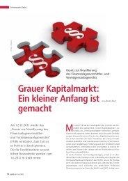 Grauer Kapitalmarkt - BWGV