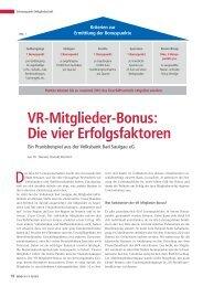 VR-Mitglieder-Bonus - BWGV