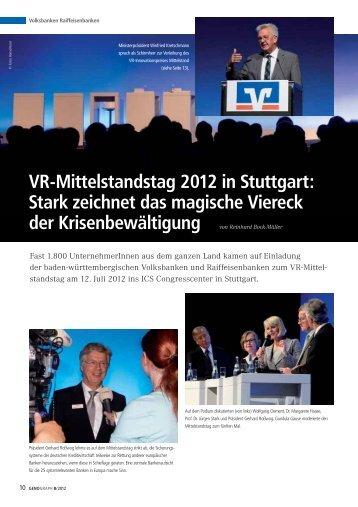 VR-Mittelstandstag 2012 in Stuttgart - BWGV