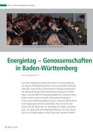 Energietag — Genossenschaften - BWGV