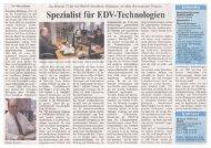 Wirtschaft Regional 2006 Janu... - bei der Gentner IT-Service GmbH