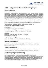 AGB Handel - bei der Gentner IT-Service GmbH