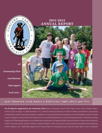 2012 Annual Report - Concord-Carlisle Community Chest