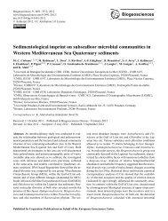 Sedimentological imprint on subseafloor microbial ... - HAL