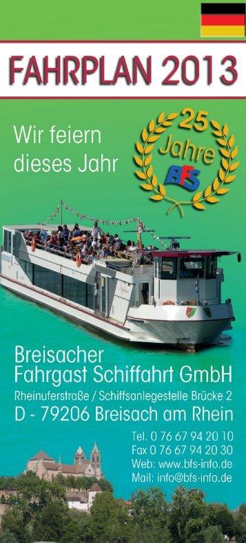 Fahrplan 2013 Der Fahrplan 2013 als PDF