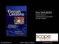 Pasi SAHLBERG - Stanford Center for Opportunity Policy in Education