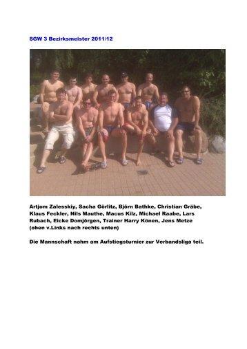 SGW 3 Bezirksmeister 2011/12 Artjom Zalesskiy, Sacha Görlitz ...