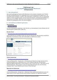 Einführung in das Learning Management System Blackboard für