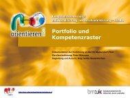 Portfolio und Kompetenzraster - Berufsorientierung