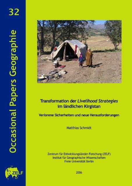Transformation der Livelihood Strategies im ländlichen Kirgistan ...