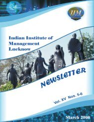 Vol. XV Nos. 05-06 , March 2008 - Indian Institute of Management ...
