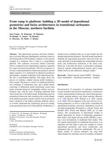 From ramp to platform: building a 3D model of depositional ...