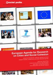 European Agenda for Research on Cities and Social Cohesion