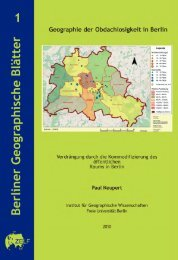 Geographie der Obdachlosigkeit - Freie Universität Berlin