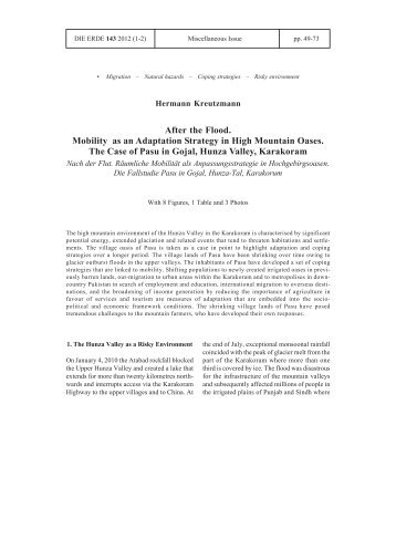 After the Flood. Mobility as an Adaptation Strategy - Freie Universität ...