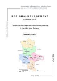 Regionalmanagement in Sachsen-Anhalt. Theoretische Grundlagen ...
