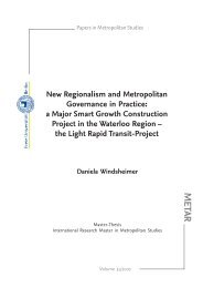 New Regionalism and Metropolitan Governance in Practice - Freie ...