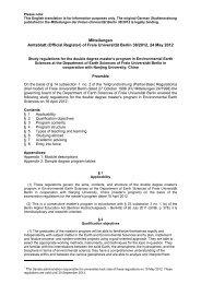 Mitteilungen Amtsblatt (Official Register) of Freie  Universität Berlin ...