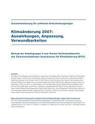 Klimaänderung 2007: Auswirkungen, Anpassung, Verwundbarkeiten