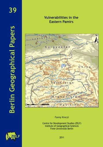 Vulnerabilities in the Eastern Pamirs 39 Berlin Geographical Papers