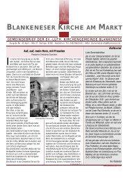 Gemeindebrief 43: April/Mai 2007 - in Blankenese