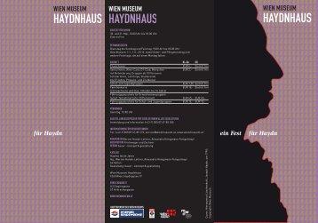 ein Fest für Haydn für Haydn - Wien Museum