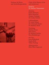 Jahrbuch 2008 / Yearbook 2008, D-ARCH, ETH Zürich - ETH Zurich ...