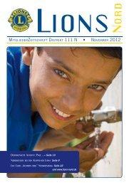 LIONS NORD Ausgabe November 2012 - zur Mitgliederzeitschrift ...