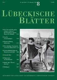 Ü B E C K I S C H E LÄ T T E R - Lübeckische Blätter