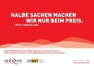 HALBE SACHEN MACHEN WIR NUR BEIM PREIS. - Renet AG