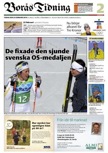 De fixade den sjunde svenska OS-medaljen - Borås Tidning