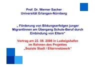 """Prof. Dr. Werner Sacher Universität Erlangen-Nürnberg """" Förderung ..."""