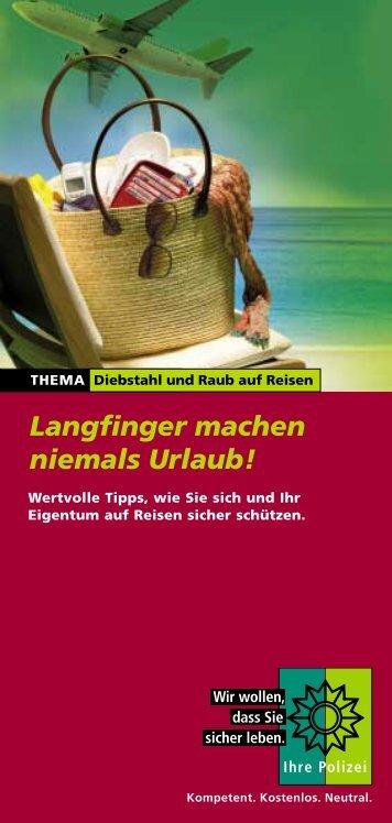 Langfinger machen niemals Urlaub! - Kartensicherheit.de
