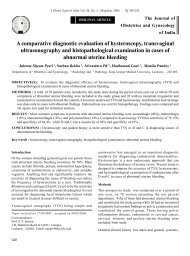A comparative diagnostic evaluation of hysteroscopy ... - medIND