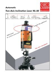 Two-Axis Inclination Laser NL-80