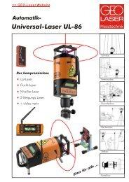 Automatik- Universal-Laser UL-86