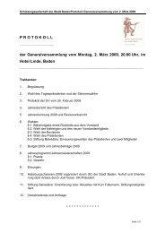 GV-Protokoll 2009 - Impressionen aus unserer Gesellschaft