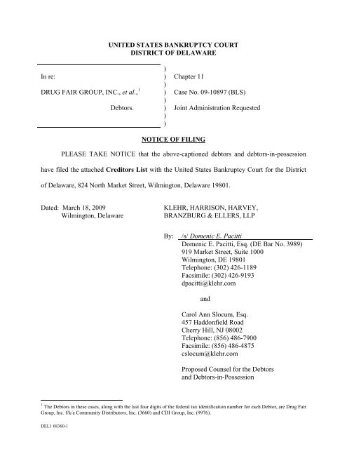 532f01580b United States Bankruptcy Court for the District - The Home for the .