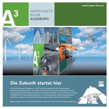 Standflyer / Mitausstellerportraits - im Wirtschaftsraum Augsburg.