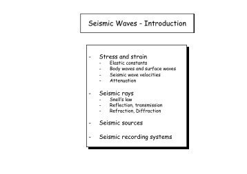 Seismic Waves - Introduction