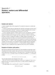 Scalars, vectors and differential operators