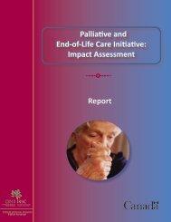 CIHR Palliative and End-of-Life Care Initiative: Impact Assessment