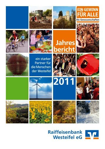 Jahres bericht - Raiffeisenbank Westeifel eG