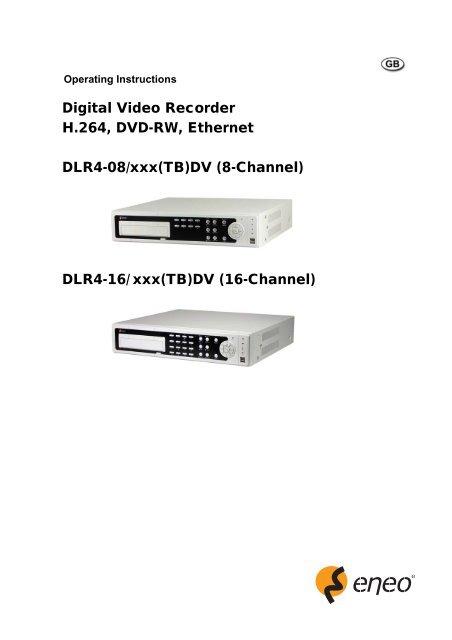 Digital Video Recorder H 264, DVD-RW, Ethernet DLR4-08     - Eneo