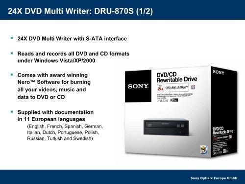 SONY DVD RW DRU-870S ATA DRIVER DOWNLOAD FREE