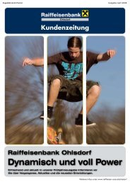 Kundenzeitung RB Ohlsdorf, Ausgabe April 2008 ... - Oberösterreich